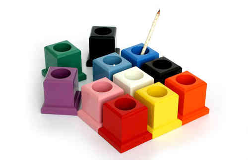 Set of 11 Coloured Pencil Holders
