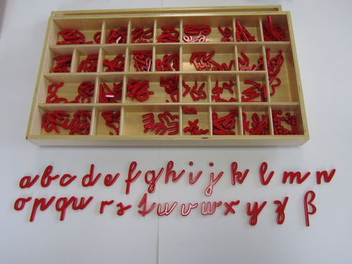 SMA German coursive: Red Alphabets in a Box (5C/10V)