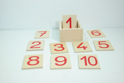 Printed Numerals 0-10 in a Box (G-Print)