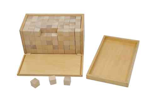 Volume Box with 250 Cubes, 2x2x2 cm