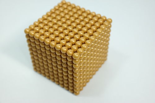 1 Golden Bead Cube of 1000, Plastic Beads