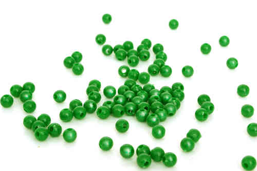 100 Green Plastic Beads
