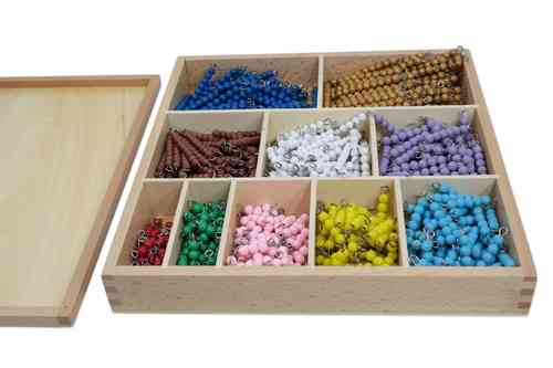 Bead Bar Box 1-10, 55 each, Plastic Beads