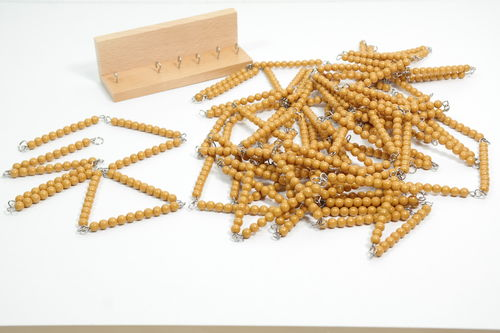 Golden Beads Chains of 100 & 1000 in a Box, Glass Beads