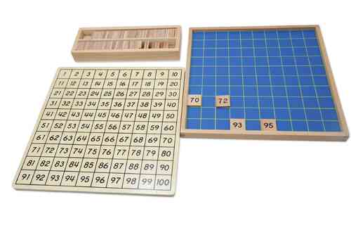 100 Board with Wooden Tiles 1-100 in a Box (G-Print)