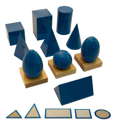 Geometric Solids - 10 Solids, 5 Bases and 3 Stands in a Box