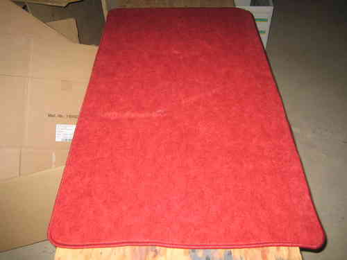 Arbeitsteppich Rot (66 x 120 cm), Made in Germany