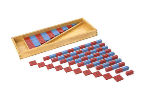 Small Number Rods (2 Sets) with Tiles in a Box (G-Print)