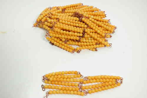 Gold Bead Chains of 100 & 1000 in a Box, Plastic Beads