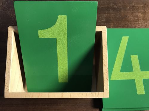 Sandpaper Numerals 0-9 in a Display Stand (G-Print)