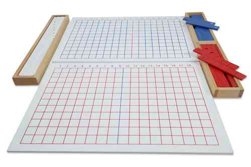 Addition Strip Board and Box containing Strips (G-Print)