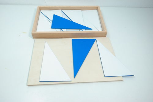 Constructive Blue Triangles in a Box